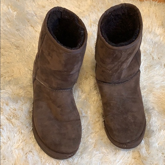 UGG Shoes - Medium height brown Uggs size 10
